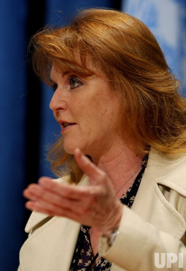 Sarah Ferguson attends women's seminar at the United Nations in New York City