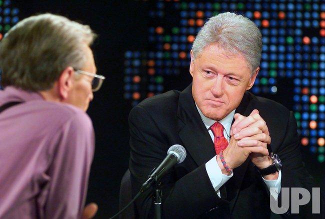 BILL CLINTON APPEARS ON LARRY KING LIVE