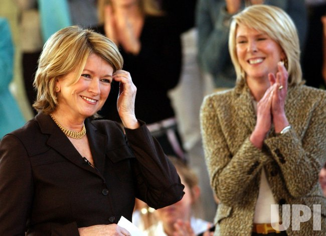 MARTHA STEWART MEETS WITH HER EMPLOYEES AT MARTHA STEWART LIVING OMNIMEDIA
