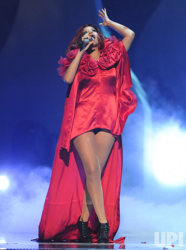 "Rihanna performance at the ""Brit Awards"" in London"