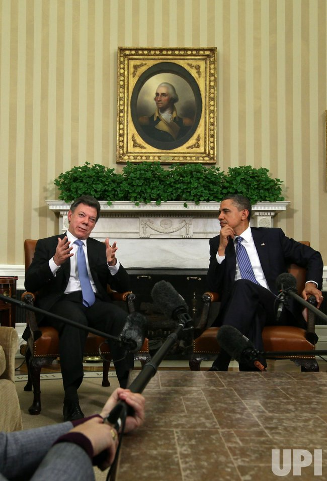 President Obama Meets with Colombian President Juan Manuel Santos