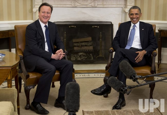 Obama Meets With U.K. Prime Minister David Cameron
