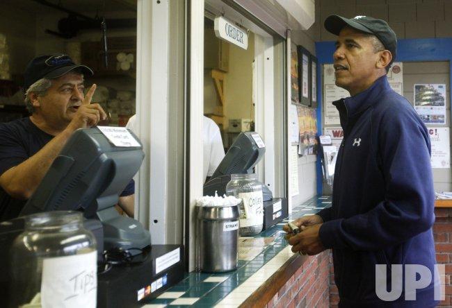 President Obama on vacation in Martha's Vineyard