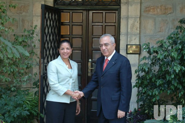 Rice meets Palestinian PM in Jerusalem