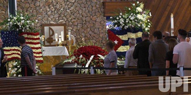 Marlins Jose Fernandez Memorial Viewing at Brendan Catholic Church Miami