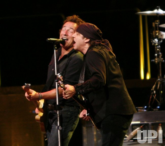Springsteen performs in concert in Paris