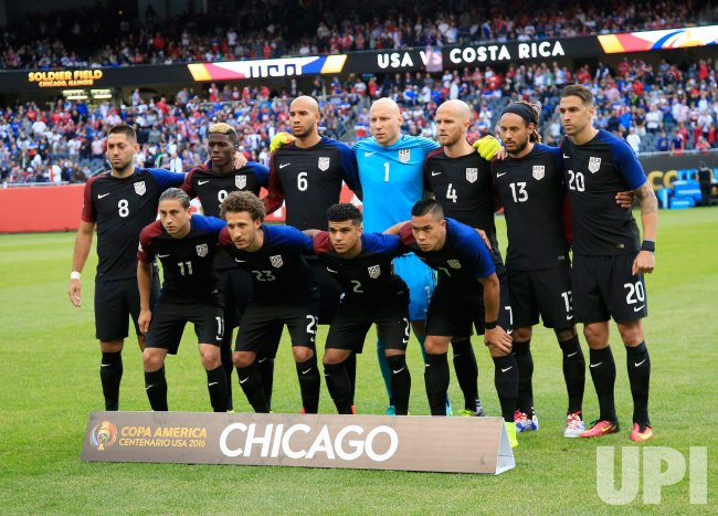 United States Poses for Team Photo during Copa America Centario in Chicago