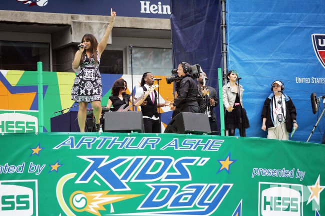 Jordin Sparks attends Arthur Ashe Kids Day in New York