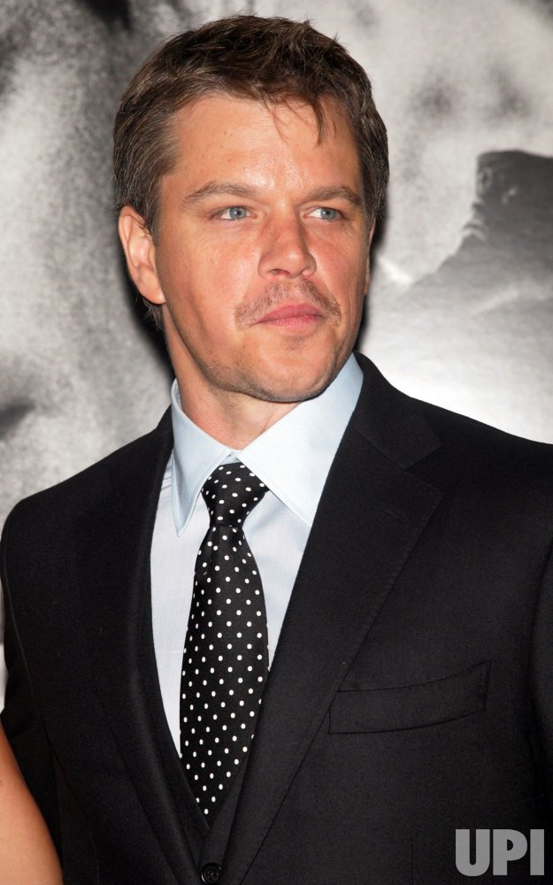 "Matt Damon arrives for the premiere of ""Green Zone"" in New York"
