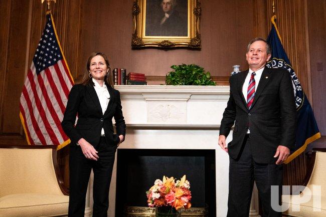 Supreme Court Nominee Barrett Meets with Senators on Capitol Hill
