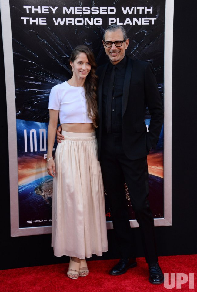 "Jeff Goldblum and Emile Livingston attend the ""Independence Day: Resurgence"" premiere in Los Angeles"