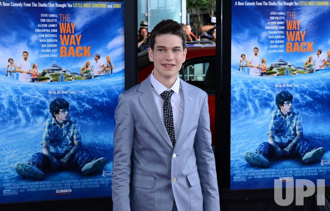 "Liam James attends ""The Way, Way Back"" premiere in Los Angeles"