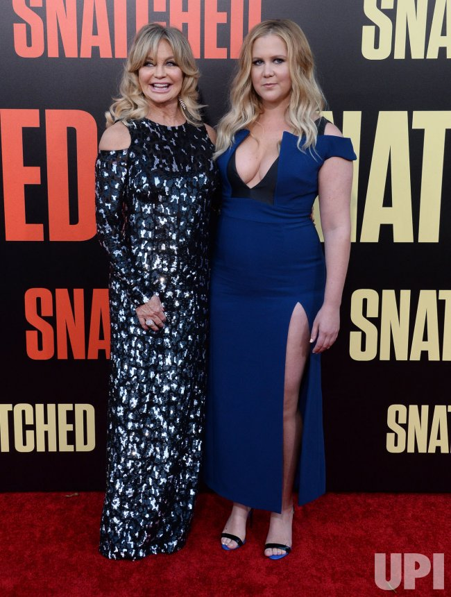 "Goldie Hawn and Amy Schumer attend the ""Snatched"" premiere in Los Angeles"