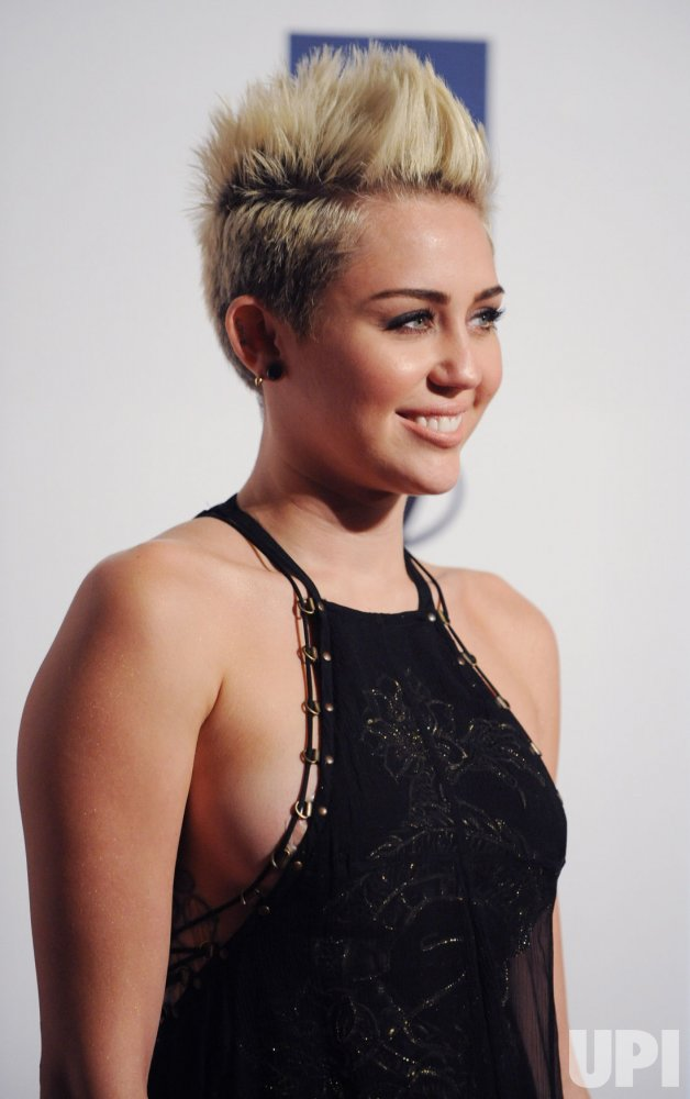 Miley Cyrus attends the Clive Davis pre-Grammy party in Beverly Hills, California