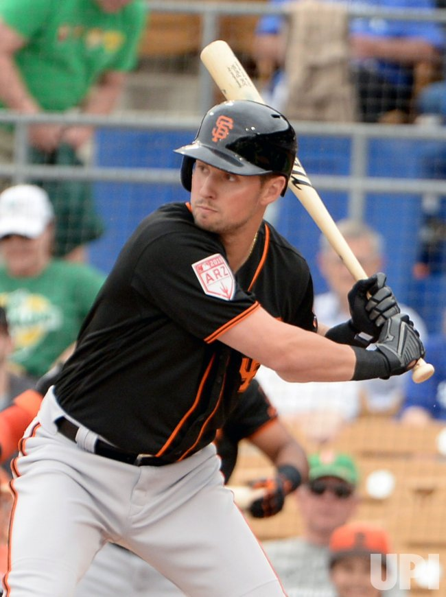 Giants' Panik waits for pitch