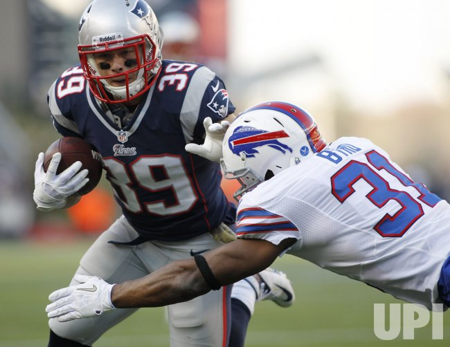 Patriots Woodhead scores against Bills Byrd at Gillette Stadium in Foxboro, MA