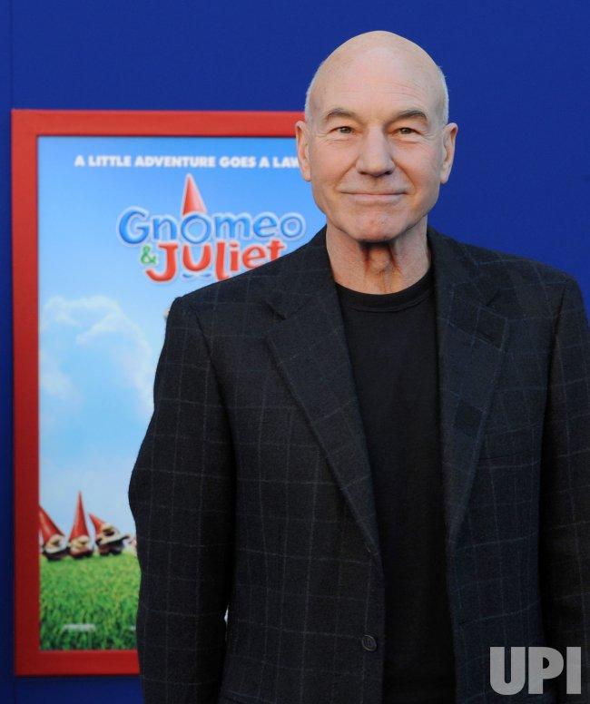 """Patrick Stewart Stewart attends the """"Gnomeo & Juliet"""" premiere in Los Angeles"""