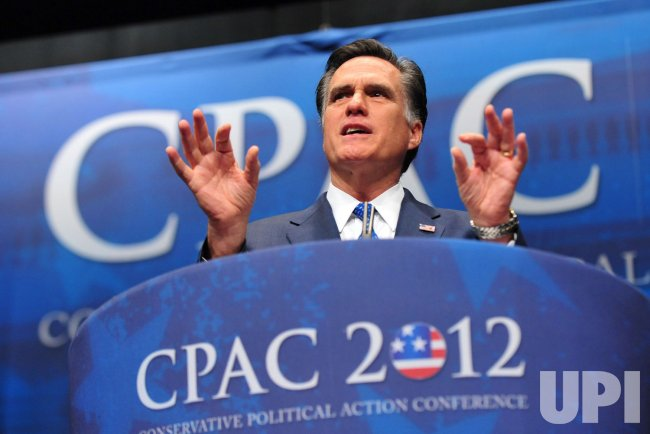 Presidential Candidate Mitt Romney speaks at CPAC in Washington