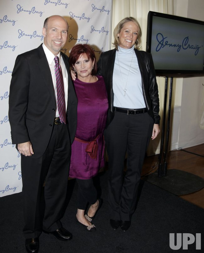 Carrie Fisher Joins Jenny Craig as New celebrity Client in New York