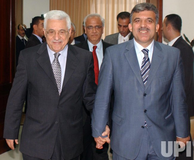 PALESTINIAN PRESIDENT ABBAS AND TURKISH DEPUTY PM