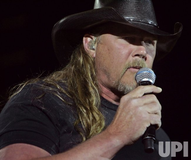 Trace Adkins performs in concert in California