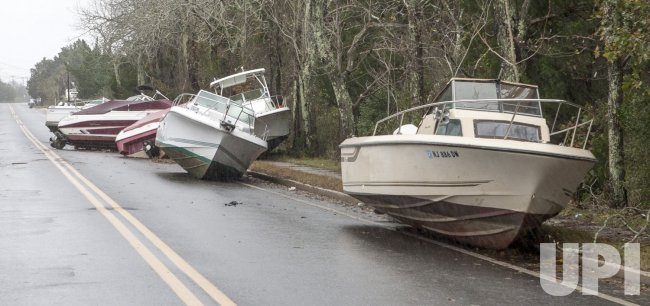 Hurricane Sandy hits the Eastern US coast