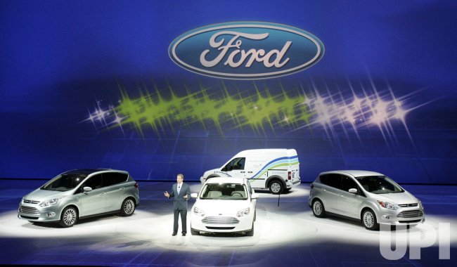 Bill Ford Jr. introduces Ford Hybrid and Electric line of cars at the 2011 NAIAS in Detroit, MI.