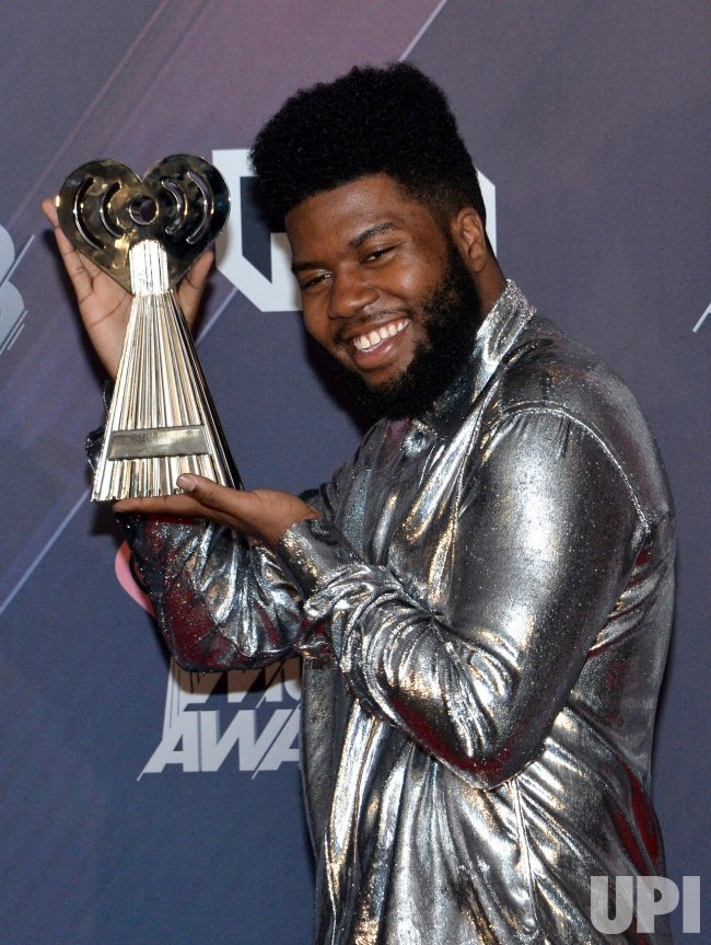 Khalid wins awards at the iHeartRadio Music Awards in Inglewood, California