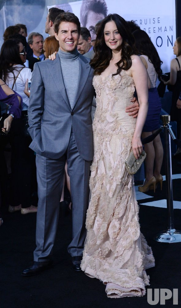 "Tom Cruise and Andrea Riseborough attend the ""Oblivion"" premiere in Los Angeles"