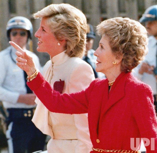 Nancy Reagan and Princess Diana visit drug rehablitation center in Springfield, VA