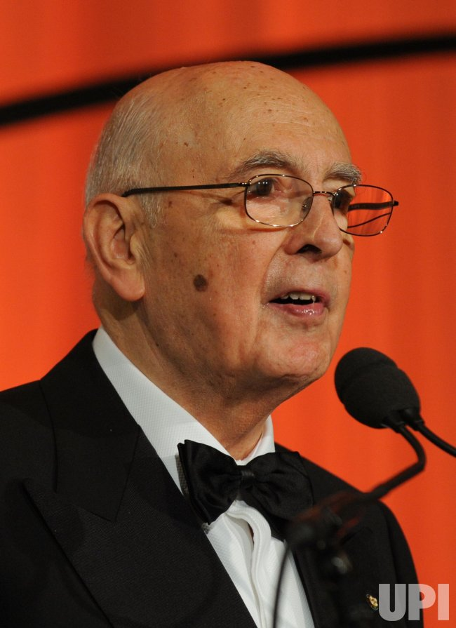 Italian President Giorgio Napolitano speaks at Sons of Italy Foundation gala in Washington