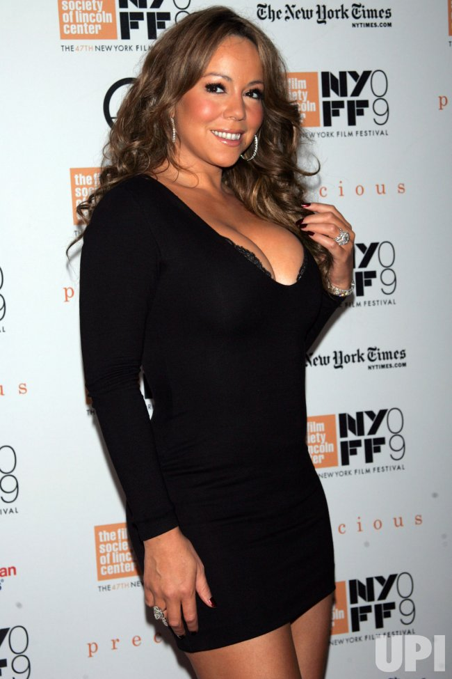 "Mariah Carey arrives at the New York Film Festival premiere of ""Precious"" in New York"