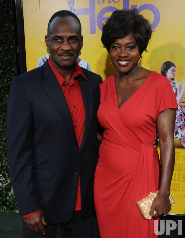 "Viola Davis and Julius Tennon attend the premiere of ""The Help"" in Beverly Hills, California"