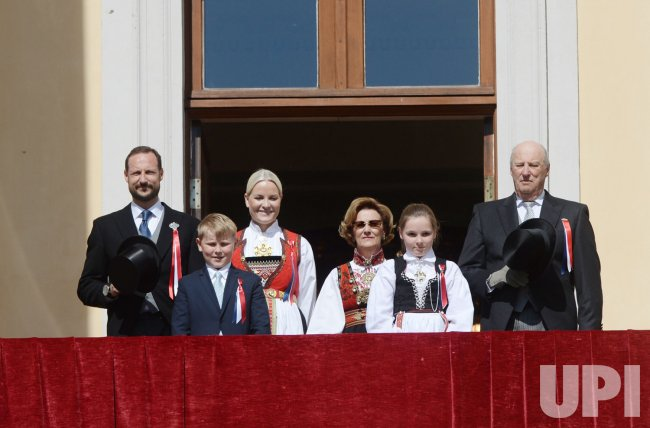 The Norwegian Royal Family Celebrate National Day In Oslo Upi Com