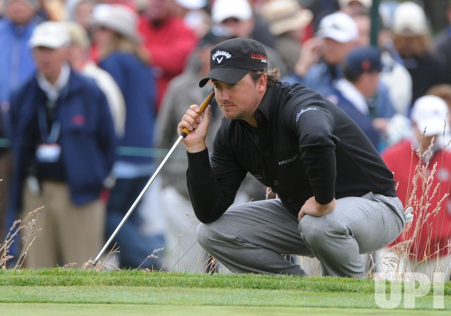 Graeme Mcdowell on the 3rd green during the U.S. Open in Pebble Beach, California