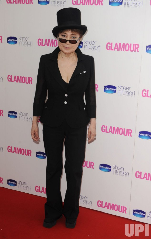 "Yoko Ono attends ""The Glamour Awards"" in London"