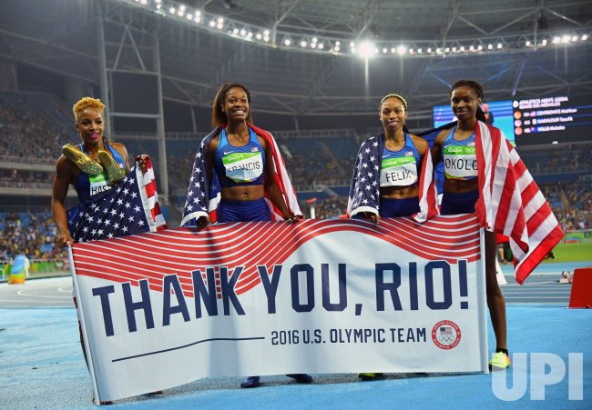 United States celebrate gold medal at Rio Olympics