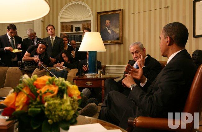 Israeli PM Netanyahu and President Obama Meet at the White House