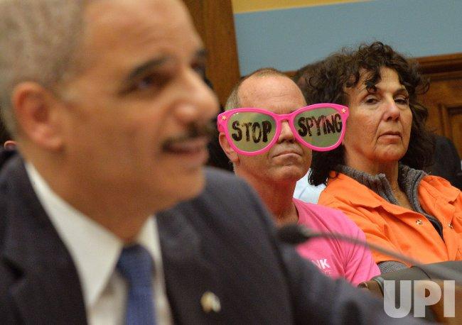 Attorney General Eric Holder testifies in Washington