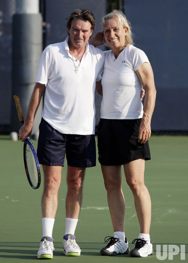 Jimmy Connors and Martina Navratilova at the U.S. Open ...