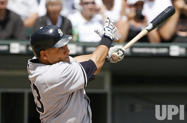 New York Yankees' Melky Cabrera homers against the Chicago White Sox