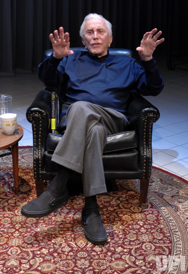 KIRK DOUGLAS DISCUSSES HIS MEMOIR IN CULVER CITY, CALIFORNIA