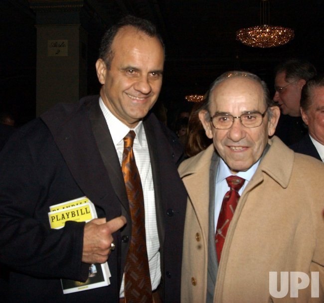 "JOE TORRE, YOGI BERRA ATTEND BILLY CRYSTAL BROADWAY SHOW ""700 SUNDAYS'"