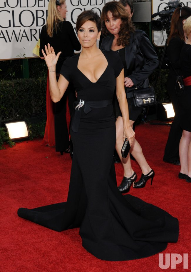Eva Longoria arrives at the 68th annual Golden Globe Awards in Beverly Hills, California