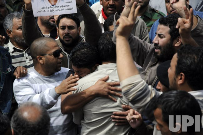 Funeral held for Libyan Fighters