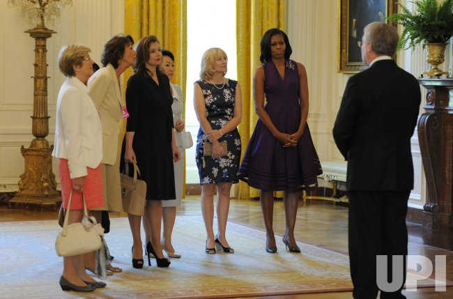 First lady Michelle Obama gives White House tour to G-8 spouses