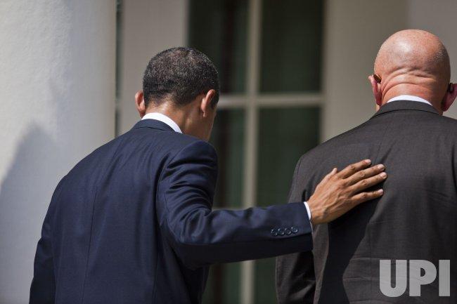 U.S. President Obama speaks about Director of National Intelligence nominee Gen. James Clapper in Washington