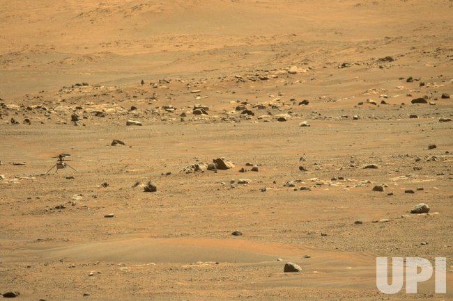 NASA's Perseverance Mars Rover Uses Its Mastcam-Z Viewer to Capture the Ingenuity Helicopter
