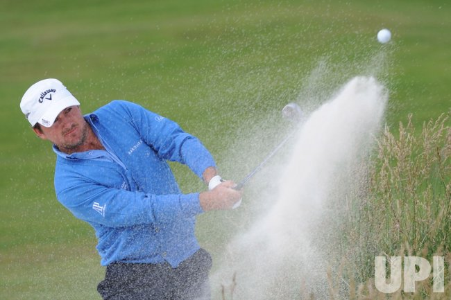 Graeme McDowell hits out of a bunker during the U.S. Open in Pebble Beach, California