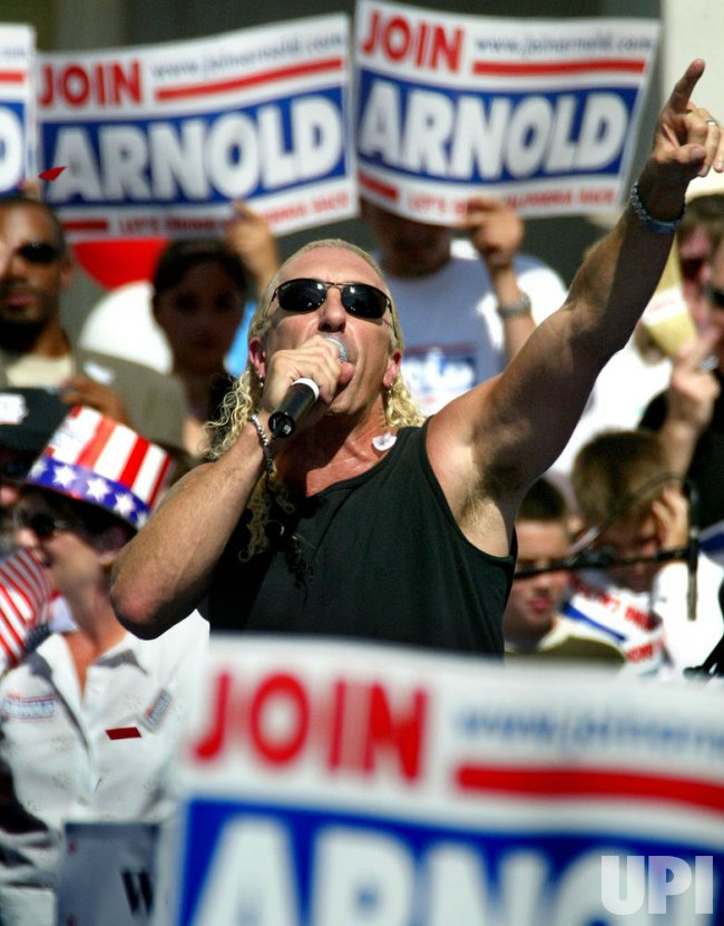 ARNOLD RALLY AT STATE CAPITOL SACRAMENTO